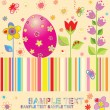 Stock Vector: colorful easter card