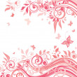Floral pink card — Stock Vector #21168555