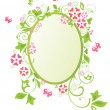 Stock Vector: Easter wreath