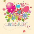 Greeting easter card - Image vectorielle