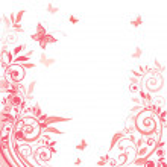 rosa blommig gratulationskort — ストックベクタ