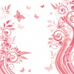 ピンクの花カード — ストックベクタ