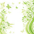 Stock Vector: Spring green banner