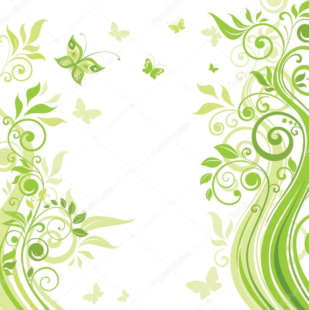 春天绿色横幅 — 矢量图片作者