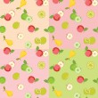 Seamless pattern with fruits — Stock Vector #21188367