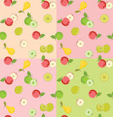 Seamless pattern with fruits — Stockvektor