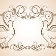 Stock Vector: Frame with doves