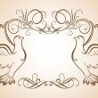 Frame with doves - Stock Vector
