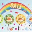 Seasonal sale - Stock Vector