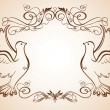 Wedding frame with doves — Stock Vector #21195847