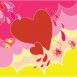 Stock Vector: Background with heart