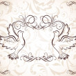 Wedding frame with doves - Stock Vector