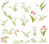 Set of flower design — 图库矢量图片