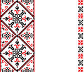 Ukrainian embroidery — Stock Vector
