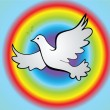 Dove of peace — Vector de stock #21227151