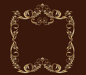 Decorative gold frame. Gold collection. — Stock Vector