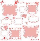 Decorative pink frame — Stock Vector