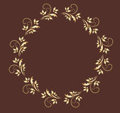 Gold wreath — Stock Vector