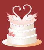 Gâteau de mariage — Vecteur