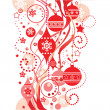 Stock Vector: Christmas red background