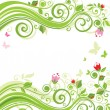 Floral beautiful background - Stockvectorbeeld
