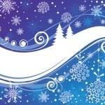Christmas blue card — Stock Vector #21245057