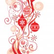 Red christmas background — Stock Vector #21245089