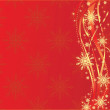 Red christmas background — Stock Vector