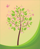 Floral tree beautiful — Wektor stockowy