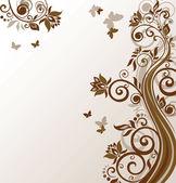 цветочные коричневый фон — Cтоковый вектор