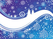 Blauwe kerstkaart — Stockvector