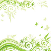 Floral green background — Vettoriale Stock