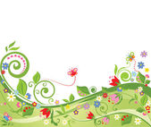 Floral spring background — Stock Vector