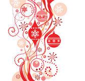赤いクリスマス背景 — ストックベクタ