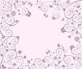свадебный фиолетовый карты — Cтоковый вектор