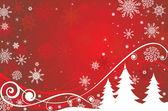 Christmas kırmızı bayrak — Stok Vektör
