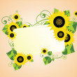 Card with sunflower — Stock Vector