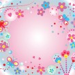 Vector de stock : Abstract cute background