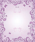 Purple greeting frame — Stock Vector