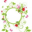 Stock Vector: Flower frame