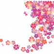 Vector de stock : Flowers background