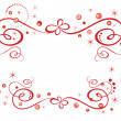 Red holiday border - Imagens vectoriais em stock