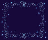Blue holiday frame — Stock Vector