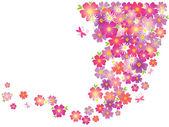 Flowers background — Stockvector