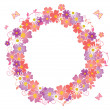 flower wreath&quot — Stock Vector