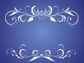 Wedding blue card — Stock Vector