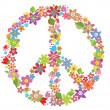 Peace flower symbol — Stock Vector #21341829