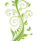 Abstract green tree — Stock Vector