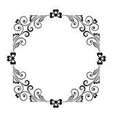 Decorativo bordo nero — Vettoriale Stock