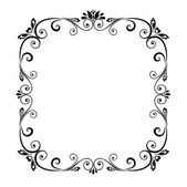 Decorative black frame — Stock Vector